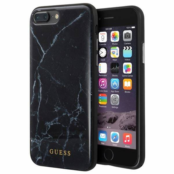 san francisco 7e2a4 21f8b Guess Marble - Etui iPhone 8 Plus / 7 Plus (czarny)