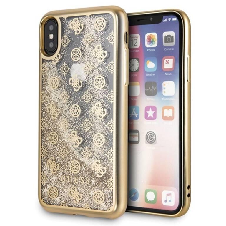 aa5e3d789580 etui guess iphone xr liquid glitter gold