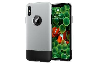 Etui do iPhone X/Xs Spigen Classic One Aluminium - szare