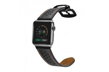 Pasek do Apple Watch 42/44mm TECH-PROTECT Leather - czarny