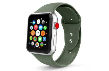 Pasek do Apple Watch 1/2/3/4/5 (42/44mm) Tech-Protect Smoothband - nocna zieleń