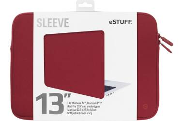 Etui do MacBook Pro 13 eSTUFF Sleeve Fits - czerwone