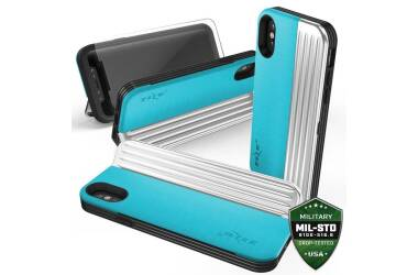 Etui do iPhone X/Xs Zizo Retro Series - niebiesko-czarne