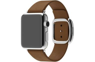 Pasek do Apple Watch 38/40mm Apple Modern Buckle (S) - brązowy