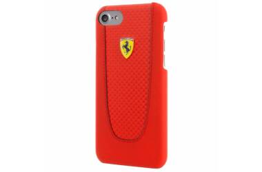 Ferrari Pit Stop Red Trim - Etui iPhone 8 / 7 (Red Carbon)