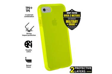 Etui do iPhone 7/8/SE 2020 PURO Impact Pro Flex Shield - limonkowe