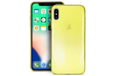 PURO 0.3 Nude - Etui iPhone X (Fluo Yellow)