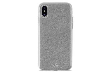 PURO Glitter Shine Cover - Etui iPhone XR (Silver)