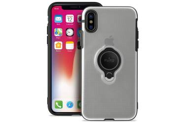 Etui do iPhone Xs Max PURO Magnet Ring Cover - przezroczyste