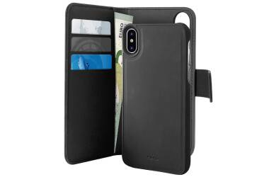 PURO Wallet Detachable - Etui 2w1 iPhone Xs / X (czarny)