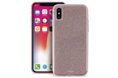 PURO Glitter Shine Cover - Etui iPhone X (Rose Gold)