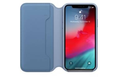 Etui do iPhone Xs Apple skórzane folio cornflower