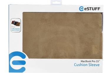 Etui do MacBook Pro 15 eSTUFF Sleeve Khaki - brązowe
