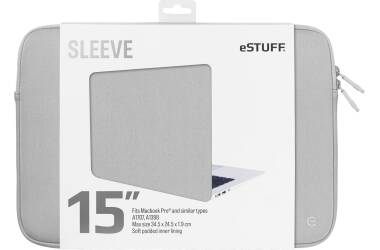 Etui do MacBook Pro 15 eSTUFF Sleeve - szare