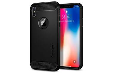 Etui iPhone X SPIGEN SGP Rugged Armor Black
