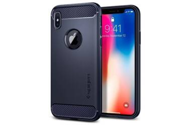 Etui iPhone X SPIGEN SGP Rugged Armor Midnight Blue