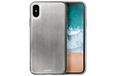 Etui do iPhone X Laut Huex Metallics - srebrne
