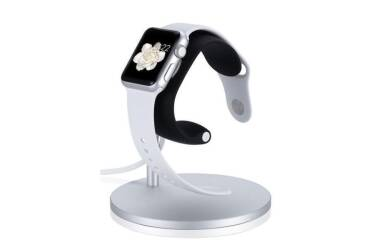 Ładowarka do Apple Watch Just Mobile Lounge Dock - srebrna