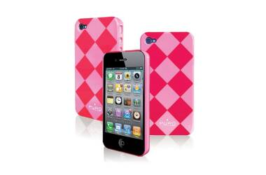 Etui do iPhone 4/4s PURO Rhomby Cover - różowe