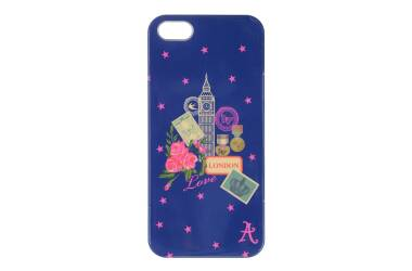 Accessorize London Etui do iPhone 5/5s   Granatowy