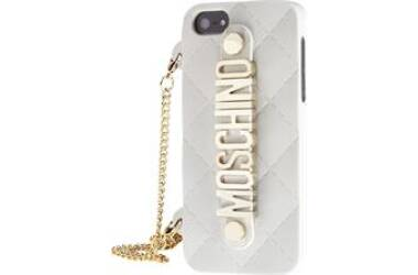 Moschino silicon/metal bag case, etui do iPhone 5/5S/ SE białe