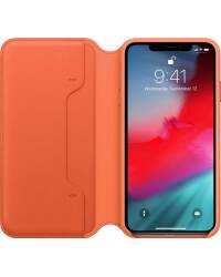 Etui do iPhone Xs Max Apple Leather Folio - oranż - zdjęcie 2