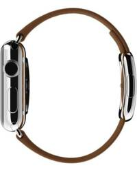 Pasek do Apple Watch 38/40mm Apple Modern Buckle (S) - brązowy - zdjęcie 3