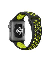 Pasek do Apple Watch 42/44mm TECH-PROTECT Softband - czarno-zielony - zdjęcie 4
