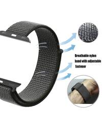 Pasek do Apple Watch 42/44mm TECH-PROTECT Nylon - oliwka - zdjęcie 4