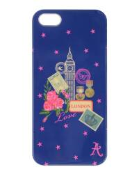 Etui do iPhone 5/5s/SE Accessorize London - granatowe - zdjęcie 1
