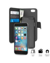Etui do iPhone 7 Plus PURO Wallet Detachable -  2w1 Czarne - zdjęcie 1