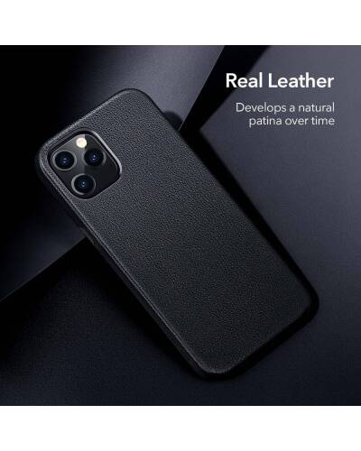 Etui do iPhone 12/12 Pro ESR Metro Leather - czarne - zdjęcie 3