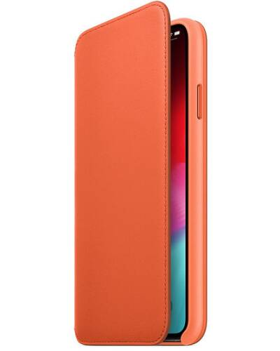 Etui do iPhone Xs Max Apple Leather Folio - oranż - zdjęcie 1