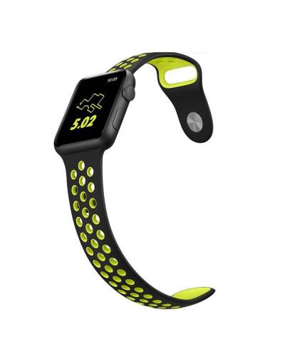 Pasek do Apple Watch 42/44mm TECH-PROTECT Softband - czarno-zielony - zdjęcie 3