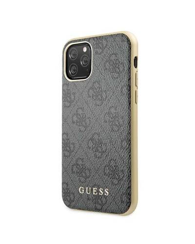 Etui do iPhone 11 Pro Guess 4G Charms Collection - szary  - zdjęcie 2