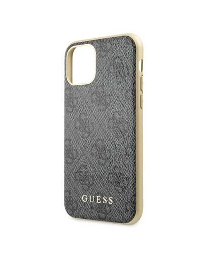 Etui do iPhone 11 Pro Guess 4G Charms Collection - szary  - zdjęcie 3