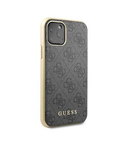 Etui do iPhone 11 Pro Guess 4G Charms Collection - szary  - zdjęcie 5