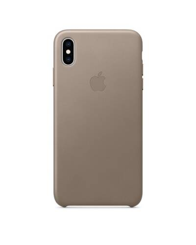Etui do iPhone Xs Max Apple Leather Case - jasnobeżowe - zdjęcie 1