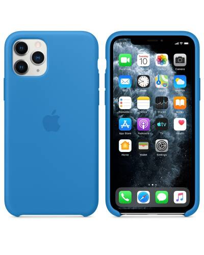 Etui do iPhone 11 Pro Apple Silicone Case błękitna fala - zdjęcie 3
