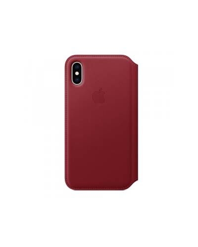 Etui do iPhone Xs Max Apple Leather Folio - czerwone - zdjęcie 2