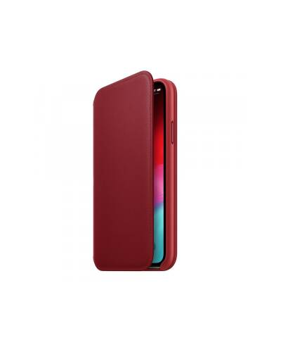Etui do iPhone Xs Max Apple Leather Folio - czerwone - zdjęcie 1